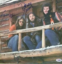 AMERICA Band Signed HIDEAWAY Vinyl RECORD Album Dewey Bunnell GERRY BECKLEY PSA