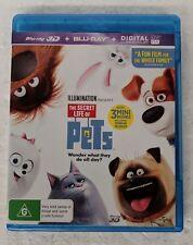 THE SECRET LIFE OF PETS - 3D + 2D Blu-ray 2-DISC Region B oz seller