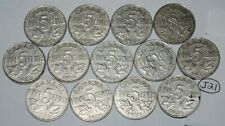 Canada 1922 to 1936 5 Cents George V Canadian Nickels 13 coins Lot #J21
