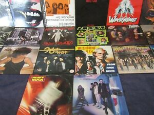 Lot 20 Vinyles LP 33 Personal Collection Hard Rock/Glam Rock 1970/80 Tested VG+