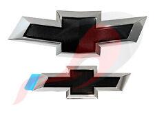 2014-2018 Impala GM Front & Rear Chrome & Black Bowtie Emblem Kit 23287538