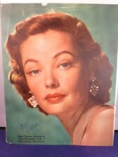 Gene Tierney Signed 8 x 10 Magazine Page with COA