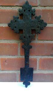 Medium handmade,Ethiopian Coptic Christian carved wooden cross Ethiopia