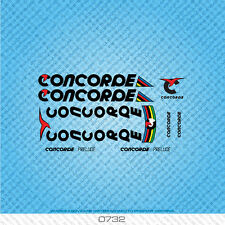 Concorde Prelude Bicycle Decals - Transfers - Stickers - Black Text - Set 0732