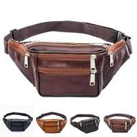 Leather Fanny Pack-Mens Waist Belt Bag-Womens Purse Hip Pouch Travel Black Coffe