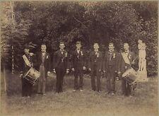 Scène de genre Fêtes nationale Tambour France Vintage albumine vers 1890