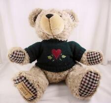 Susan Winget Christmas Teddy Bear Plush Collectors Edition 2001 Tan Plaid 13""