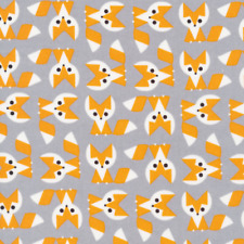 Organic Cotton Fabric, Fox from Favourites by Ed Emberley Cloud9 Quilters Cotton