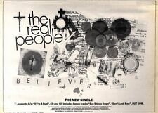 """16/5/92Pgn42 THE REAL PEOPLE : BELIEVER SINGLE/TOUR ADVERT 7X10"""""""