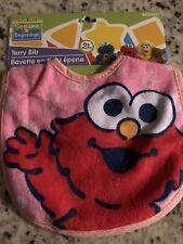 Terry Baby Bib Sesame Street Beginnings Baby Elmo 0+ Months NEW
