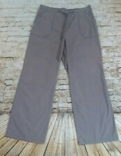MARKS AND SPENCER Women's Brown/Dark Beige Cargo Cotton Casual Trousers Size 10