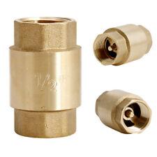 1/2'' NPT Brass Female Male Thread In Line Spring Vertical Check Valve 200WOG