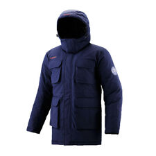 FUERZA Canadian Mens Down Wellon Winter Parka Hooded Long Coat Jacket Navy M