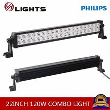 "Philips 22"" 120W Led Light Bar Spot&Flood Driving Atv Ute Suv Bar Offroad 4WD"