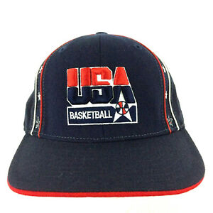 Dream Team USA Basketball Hat Olympic Spell Out Logo NBA Reebok Cap Fitted 7 1/8
