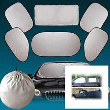 6PCS Car Side Rear Window Screen Sun Shade Mesh Cover Windshield Sunshade Visor