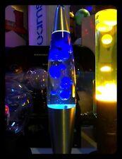 lampada Lava magma Lamp classic original blu di lava liquido clear h:41cm.circa