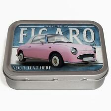 Personalised Nissan Figaro Pink 2oz Tobacco Tin Classic Car Baccy Gift CL42
