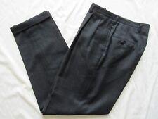 New listing Vtg 50s Drop Loop Hollywood Waist Fancy Pattern Dress Pants 34x31 Vlv Mod Cuffed