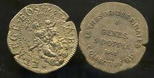 ITALIE  GENES  5 doppia  1653   COLLECTION BP  (   3,9 cm diametre )  ( bis)