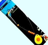 Apex Wire Harness Chart/Orange Spinner Rig -Size #3 Colorado Blade & Matzuo Hook