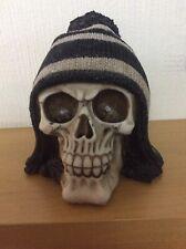 Gothic and Fantasy Black and White Bobble Hat Skull Ornament