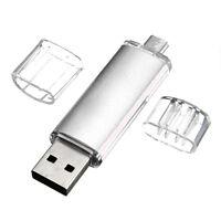 32GB USB Speicherstick OTG Mikro USB Flash Drive Handy PC Silber GY W6F0