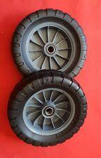 2 x Genuine Victa EasyTrak 200mm Lawn Mower Wheel + Bearings - CH87083G