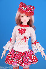 OOAK~LOVES~special 4pc.outfit VALENTIN day☆[Unoa/Narae]☆BJD doll MSD☆by Anita.N