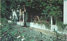 19th Century Homes & Picket Fences Edgartown   Martha's Vineyard  MA   Postcard