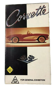 Chevrolet Corvette VHS Video Tape In Cardboard Cover Good Condition