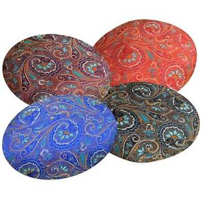 Round Shape Cover*Chinese Rayon Brocade Floor Chair Seat Cushion Case *BL18