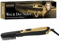Bauer Pro Wet & Dry Removeable Hot Air Nylon Brush Hair Styler Styling 360° Cord