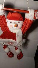 "🌟 32"" Hanging Fabric Snowman Wall Or Door Decor New"