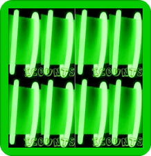 "[500] 8"" GREEN GLOW STICKS NECKLACES BRACELETS NEON GLOW-IN-DARK PARTY FAVORS"
