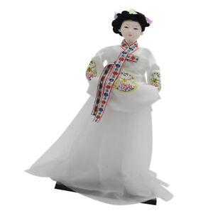 Lovely Korean Geisha Doll Hanbok Oriental Dolls Model 12'' Gift Collectibles