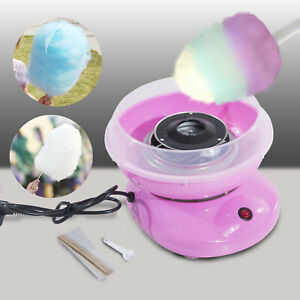 Candy Floss Machine Sugar Cotton Maker Electric Party Home Kids Sweet Pink UK