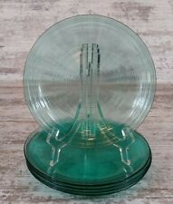 5 Lovely Arcoroc France Jardiniere Turquoise Glass Rings Salad Dessert Plates