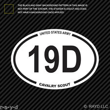United States Army MOS 19D Cavalry Scout Oval Sticker Decal us specialty
