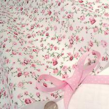 Molly - Crema / rosa tessuto di cotone shabby floreale chic