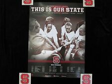 NC STATE WOLFPACK 2013 POSTER Schedule WOMENS SOCCER North Carolina St NCSU