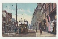 Queen Street Cardiff 1910 Postcard 208a