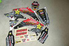 TEAM ROCKSTAR GRAPHICS & # PLATE BCKGROUNDS HONDA CRF450R CRF450  2002 2003 2004