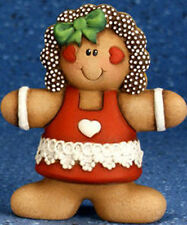 Ceramic Bisque Ready to Paint Small Gingerbread Girl double sided