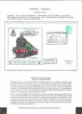 1975 TOPICAL RAILROAD COVER SHEFFIELD - LEICESTER COMMEMORATIVE COVER