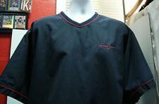Sean John Men's Large short sleeve jacket outerwear Blue 100% polyester