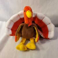 """Ty Beanie Babies """"Gobbles"""" the Turkey Retired Rare Collectible"""