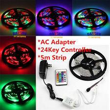SMD3528 RGB 300 Led Flexible Light Strip Lamp+24 key IR+12V 2A Power Supply 5M