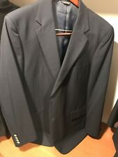 Men's navy 100% wool Macy's 44L blazer suit jacket new without tags Gorgeous!!!