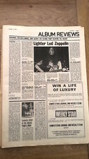 LED ZEPPELIN III album review (SOUNDS) 1970 UK  ARTICLE / clipping